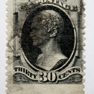U.S. Cat. # 190 - 1879 30c Hamilton, full black