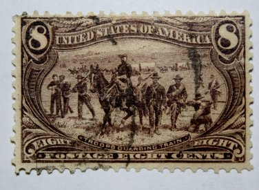 U.S. #289 - 1898 8c Troops Guarding Train