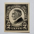 2) U.S. Cat. # 611 - 1923 2c Harding, black, imperf