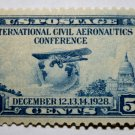 U.S. Cat. # 650 - 1928 5c Globe and Airplane