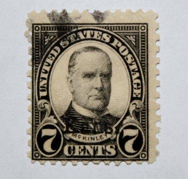 U.S. Cat. # 665 -1929 McKinley 7c black