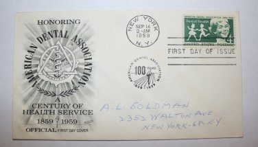 First Day of Issue - A Century of Health Service 1959