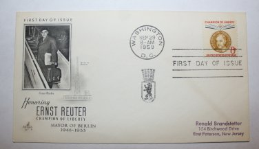 First Day of Issue - Ernest Reuter 1959
