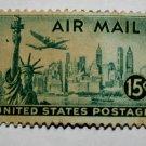 2-U.S. Cat. # C35 - 1947 15c New York Skyline
