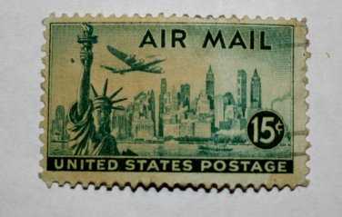 2-U.S. Cat. # C35 - 1947 15c New York Skyline