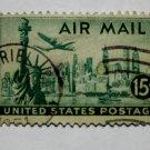 3-U.S. Cat. # C35 - 1947 15c New York Skyline