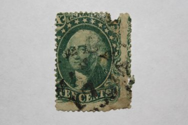 U.S. Cat. # 35 - Series of 1857-61 10 cent Washington