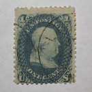 U.S. Cat. # 63 - 1861 1c Franklin, blue