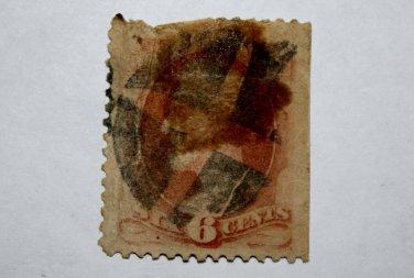 U.S. Cat. # 137 - 1870 6c Lincoln, carmine