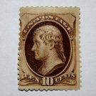 U.S. Cat. # 150 - 1870 10c Jefferson, brown