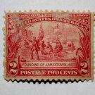 U.S. Cat. # 329 -1907 2c Founding of Jamestown