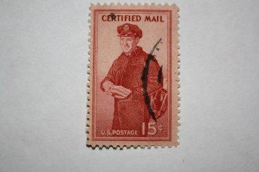 U.S. Cat. # FA1 - 1955 Certified Mail 15c