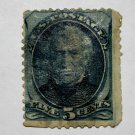 2-U.S. Cat. # 179 - 1875 5c Zachary Taylor, blue