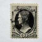 2-U.S. Cat. # 190 - 1879 30c Hamilton, full black