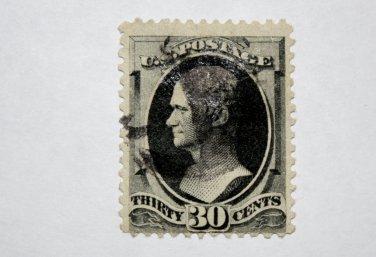 2-U.S. Cat. # 190 - 1879 30c Hamilton, full black