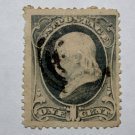 U.S. Cat. # 156 - 1873 1c Franklin, ultramarine