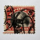 U.S. Cat. # 547 - 1920 $2 Franklin, carmine black