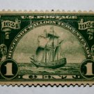 "U.S. Cat. # 614 - 1924 1c Ship ""Nieu Nederland"""