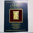 22kt. Gold Replica - 1982 George Washington 20 cent