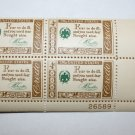 U.S. #1140 - Plate Block - 1960 4c American Credo - B. Franklin