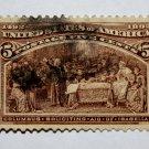 U.S. Cat. # 234 -1893 5c Columbus Soliciting Aid