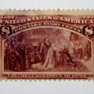 U.S. # 236 - 1893 8c Restored to Favor