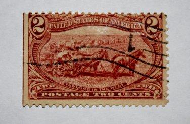 U.S. Cat. # 286 - 1898 2c Farming in the West