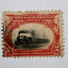 U.S. Cat. # 295 - 1901 2c Fast Express,carmine & black
