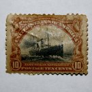 2-U.S. Cat. # 299 - 1913 5c Golden Gate perf 12 blue