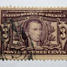 3- U.S. # 325 - 1904 3¢ Monroe Louisiana Purchase Commemorative