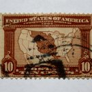 2-U.S. # 327 - 1904 10c Map of Louisiana Purchase