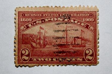 U.S. # 372 - 1909 2c Half Moon and Clermont