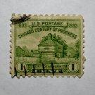 U.S. Cat. # 728 - 1933 1c Restoration of Fort Dearborn