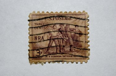 U.S. Cat. # 732 - 1933 3c National Recovery Act