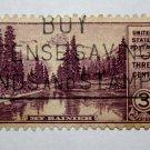 U.S. Cat. # 742 - 1934 3c Mt. Rainier, Washington
