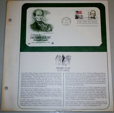 1983 First Day of Issue - Henry Clay