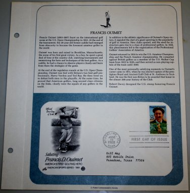 1988 First Day of Issue - Francis D. Quimet