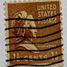 U.S. Cat. # 805 - 1938 M Washington 1-1/2c brown