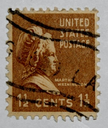 2-U.S. Cat. # 805 - 1938 M Washington 1-1/2c brown