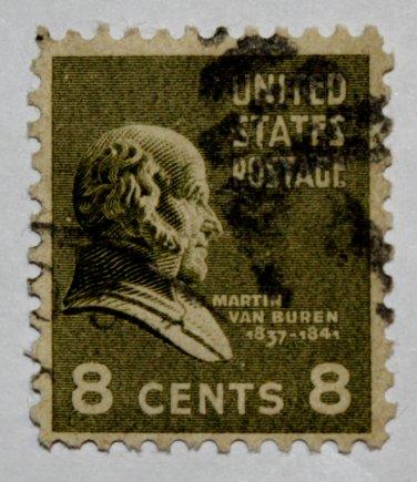 U.S. Cat. # 813 - 1938 Van Buren 8c green