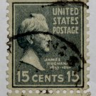 U.S. Cat. # 820 - 1938 Buchanan 15c light blue