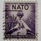 U.S. Cat. # 1008 - 1952 3c NATO