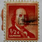 2-U.S. Cat. # 1030 - 1958 1/2c Benjamin Franklin