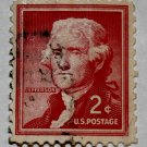 4-U.S. Cat. # 1033 - 1954 2c Thomas Jefferson