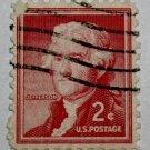 6-U.S. Cat. # 1033 - 1954 2c Thomas Jefferson