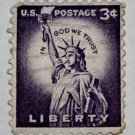 2-U.S. Cat. # 1035 - 1954 3c Statue of Liberty