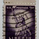 3-U.S. Cat. # 1035 - 1954 3c Statue of Liberty