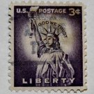 4-U.S. Cat. # 1035 - 1954 3c Statue of Liberty