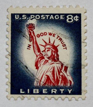 U.S. Cat. # 1042 - 1958 8c Statue of Liberty, Redrawn