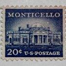 2-U.S. Cat. # 1047 - 1956 20c Monticello